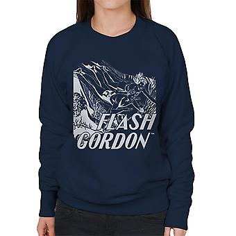 Flash Gordon Diving Sketch Women's Sweatshirt