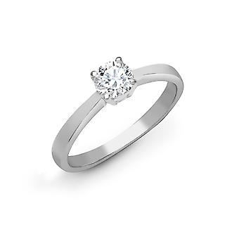 Jewelco London Solid Platinum 4 Claw Set Round G SI1 1.5ct Diamond Solitaire Engagement Ring