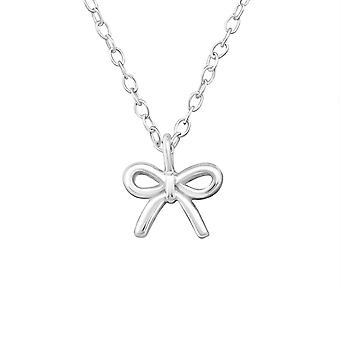 Bow - 925 Sterling Silver Plain Necklaces - W19306X