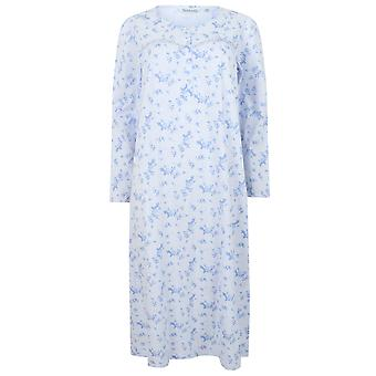 Slenderella ND4116 Femme-apos;s Jersey Floral Cotton Nightdress