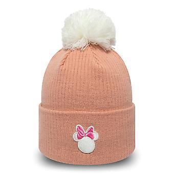 New Era Women's Winter Hat Bobble Beanie - Minnie Mouse Pink