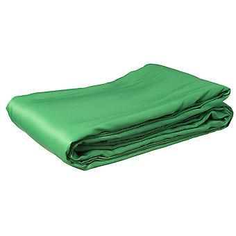 BRESSER BR-8P Polyester-Hintergrundtuch 3x6m chromakey grün