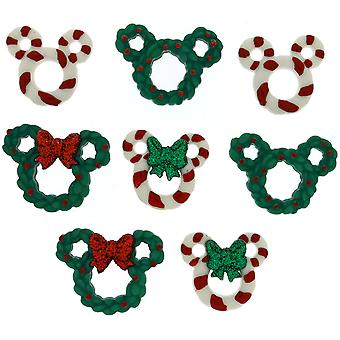 Dress It Up Licensed Embellishments-Disney Wreath & Canes DIULBTN-8237