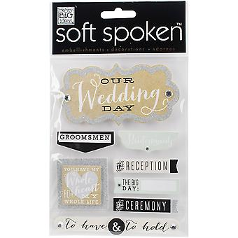 Soft Spoken Themed Embellishments-Whole Heart Wedding SS-1621