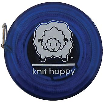Knit Happy Tape Measure Blue Kh652 Bl