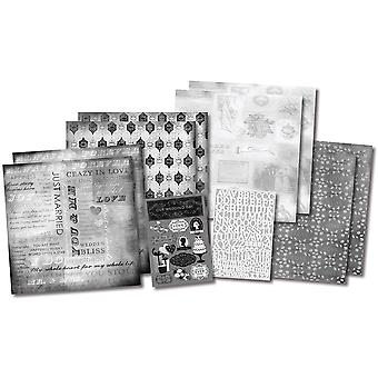 Notre mariage histoire Scrapbook Page Kit 12 « X 12 » Kf20531