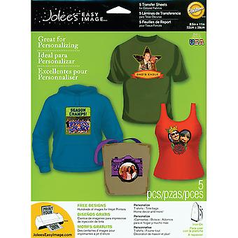 Jolee's Easy Image Transfer Sheet Dark 5 Pkg 56 47008