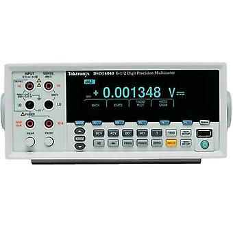 Bench multimeter digital Tektronix Calibrated to ISO standards CAT II 600 V Display (counts): 200000