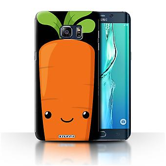STUFF4 Case/Cover for Samsung Galaxy S6 Edge+/Carrot/Kawaii Food
