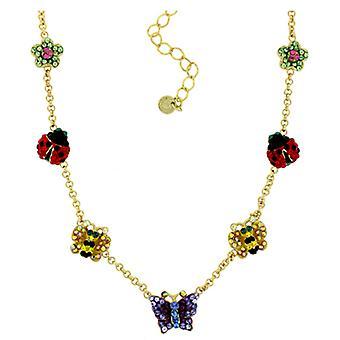 Butler & Wilson Butterfly Ladybirds & Flowers Necklace