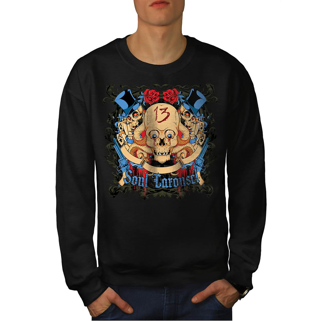 Soul Carousel Skull Terror Ride Men Black Sweatshirt | Wellcoda