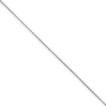 14k White Gold Solid Polished Lobster Claw Closure 1mm Cable Chain Necklace - Lobster Claw - Length: 14 to 30