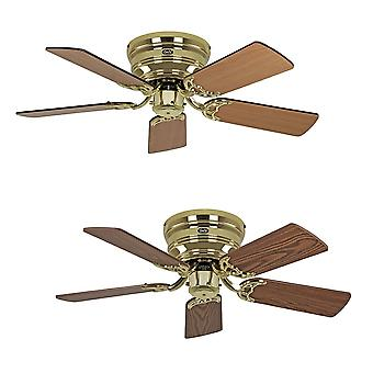 Ceiling fan Classic FLAT III polished brass extra flat in various sizes