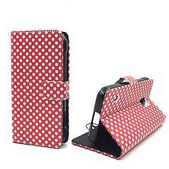 Mobile phone case pochette pour mobile Samsung Galaxy S5 active polka dot rouge
