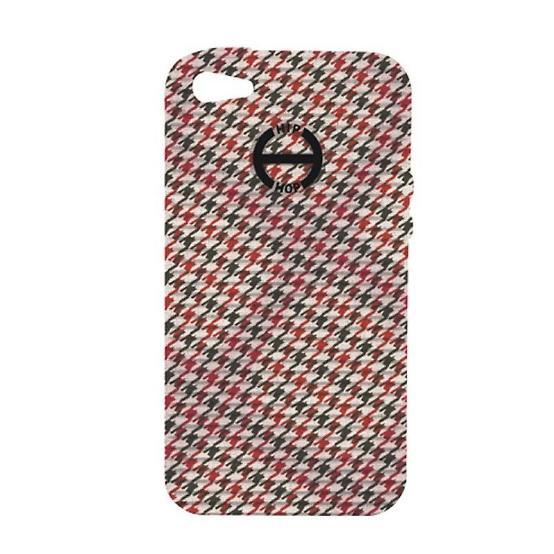 Hip Hop Cover Handyhülle Iphone 5 Pied de Poule HCV0092 alors c'est rouge