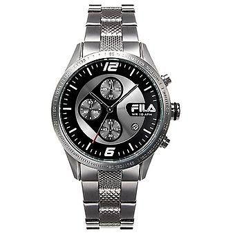 Fila men's watch chronograph stainless steel FA38-001-001
