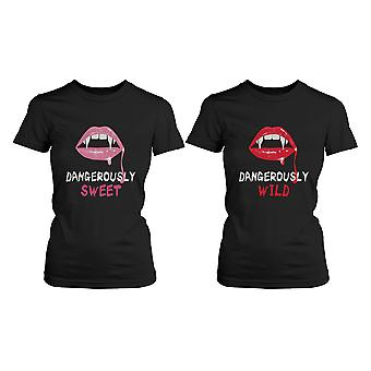 Best Friend Shirts - Dangerously Sweet and Wild Best Friends Matching BFF Shirt