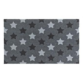 Doormat dirt trapping pad star grey 50 x 70 cm