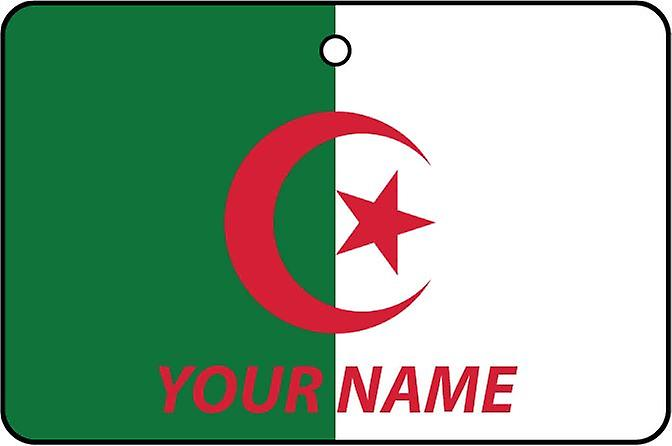 Algeria Flag Personalised Car Air Freshener