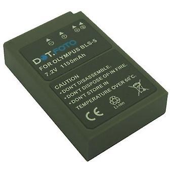 Dot.Foto Olympus BLS-5, BLS-50 substituição bateria - 7.2 v / 1150mAh