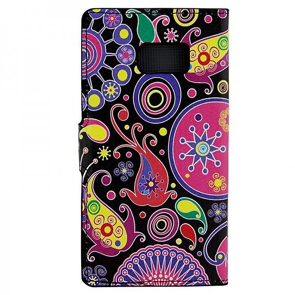 Cover wallet pattern 8 for Samsung Galaxy S6 G920 G920F