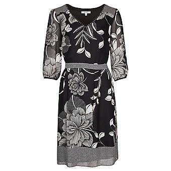 Per Una monokrom blommig klänning DR896-12