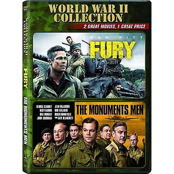 Fury / Monuments Men [DVD] USA import