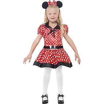 Mouse costume children dress Mickey costume girls 3-piece 10-12 years