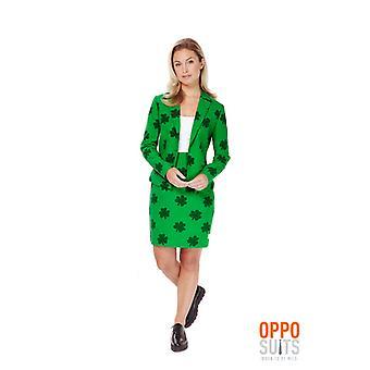 St Patricks Day Girl Damen Kostüm Opposuit Irland Slimline 2-teilig Premium EU SIZES