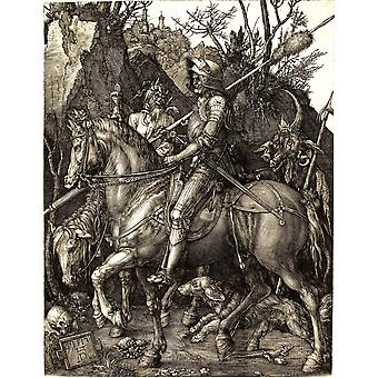 Albrecht Durer - Knight Death and the Devil Poster Print Giclee