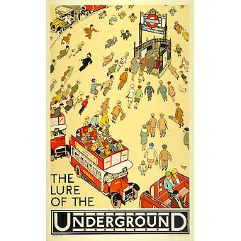 The Lure Of The Underground Poster Print Giclee