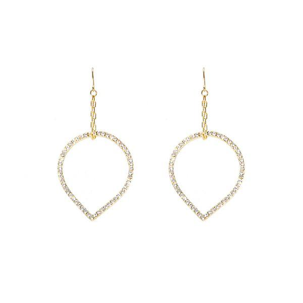 W.A.T Sparkling Crystal Rain Drop ChainEarrings