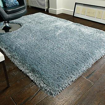 Pearl Shaggy Rugs In Duck Egg