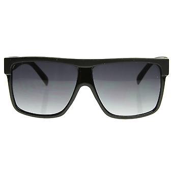 Designer Inspired Large Flat Top Square Plastic Aviator Sunglasses