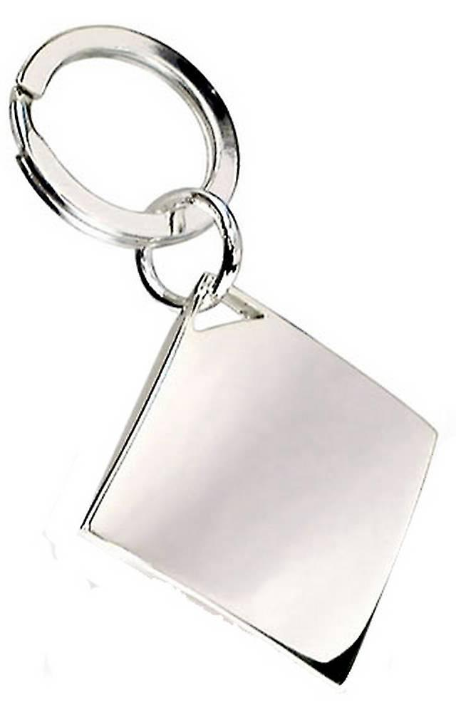 David Van Hagen Diamond Keyring - Silver
