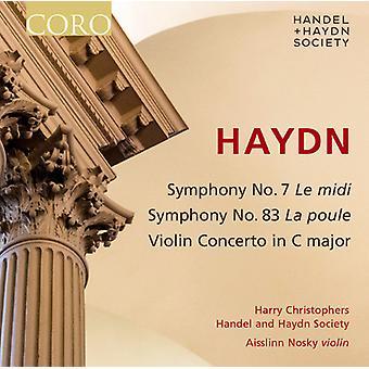 Haydn / Händel & Haydn Society / Christophers - symfonier 7 & 83 [CD] USA import
