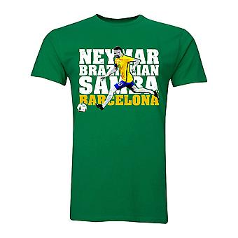 Neymar JR Brazilian Samba T-Shirt (Green) - Kids