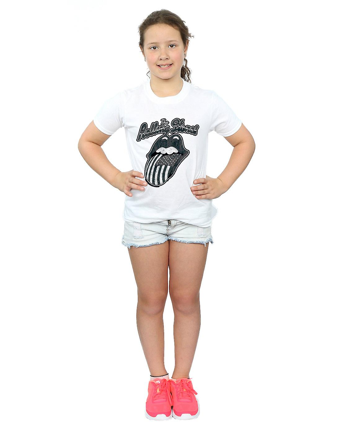 Rolling Stones Girls Monochrome American Tongue T-Shirt