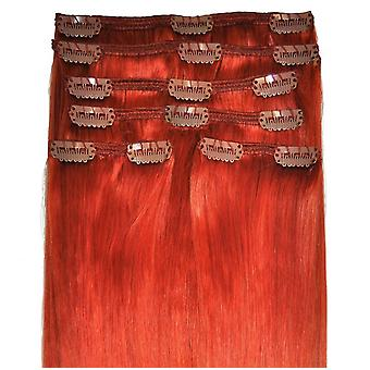 #350 Copper - Clip in Hair Extensions - Full Head - #350 - Copper