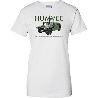 HUMVEE High Mobility Multipurpose Vehicle - US Military - Ladies T Shirt