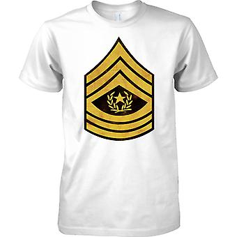 US Army Command Sergeant Major Stripes - Grunge Effect - Mens T Shirt