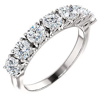 1 1 / 2ct Diamond Ring Vintage antieke verjaardag trouwring 14K White Gold