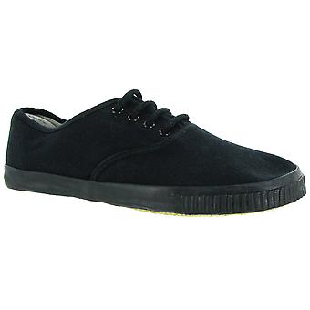 Mirak Mono Black Lace Plimsoll / Womens Trainers