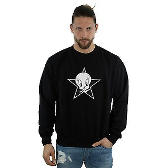 Looney Tunes Men's Tweety Pie Mono Star Sweatshirt