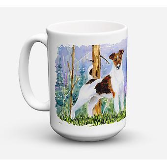 Jack Russell Terrier oppvaskmaskin trygt Microwavable keramisk kaffe krus 15 unse