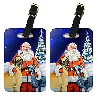 Carolines schatten 7232BT Kerstman met Great Dane Bagage labels 2 paar