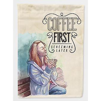 Carolines Treasures  BB5403GF Coffee First Sign Flag Garden Size