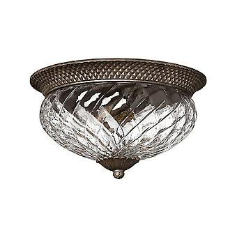 HK/PLANT/F/L PZ 3 Light Pearl Bronze Flush Ceiling Light