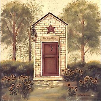 Folk Art Outhouse III Poster Print by Pam Britton (12 x 12)