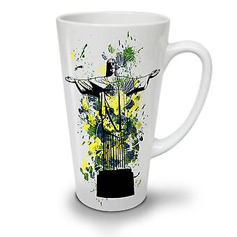Christ Redeemer Brazil NEW White Tea Coffee Ceramic Latte Mug 17 oz | Wellcoda